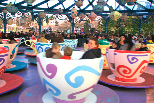 Disneyland Paris mad hatters tea cups