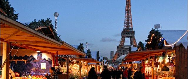 Mercado navideño en París