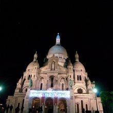 El Sacré Cœur de noche